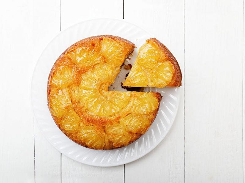 Gâteau coco-cannelle, ananas 3 épices