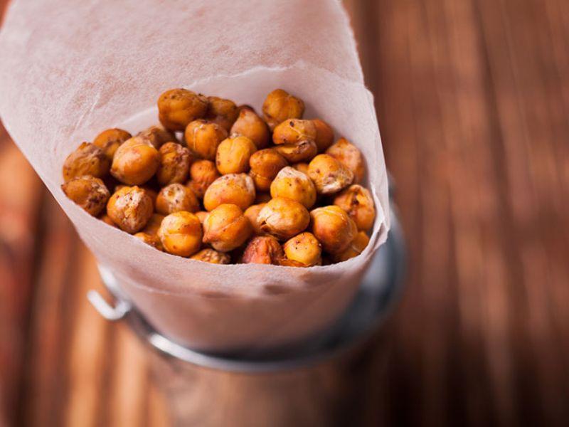 Pois-chiches grillés parfumés aux épices